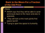 back to the moon for a fraction of the old price