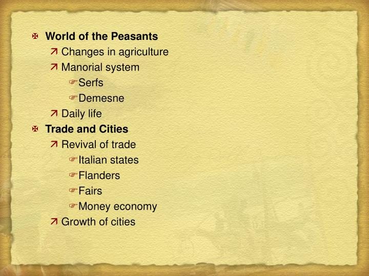 World of the Peasants