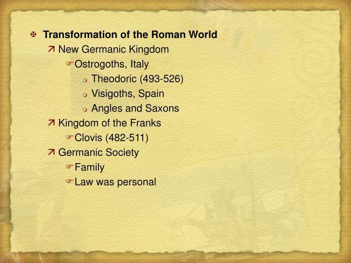 Transformation of the Roman World