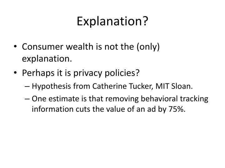 Explanation?