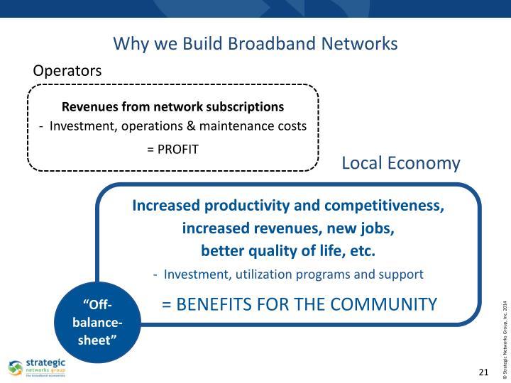 Why we Build Broadband