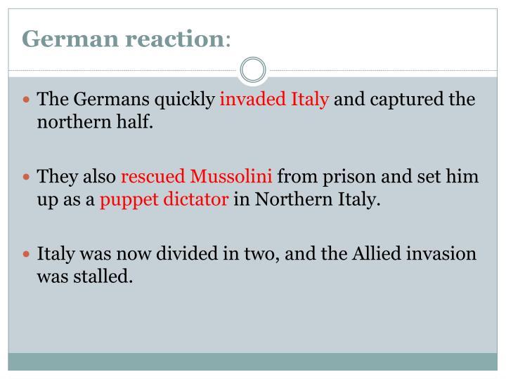 German reaction