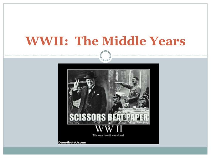 Wwii the middle years