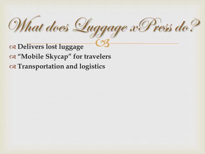 What does Luggage