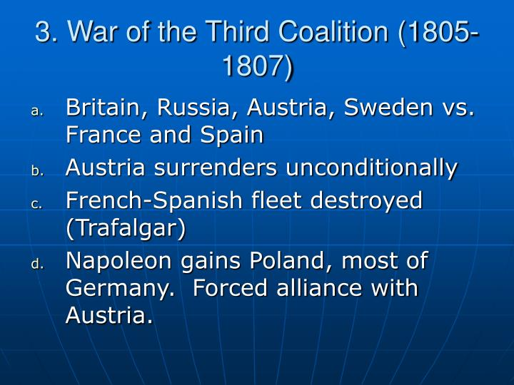 3. War of the Third Coalition (1805-1807)