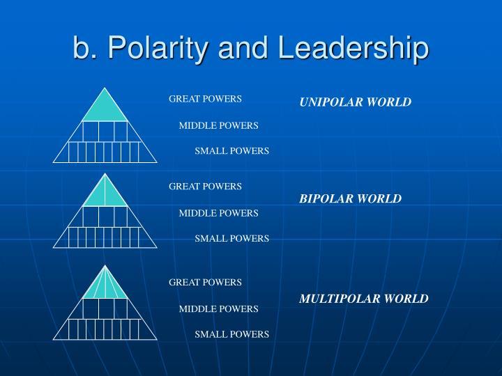 B polarity and leadership
