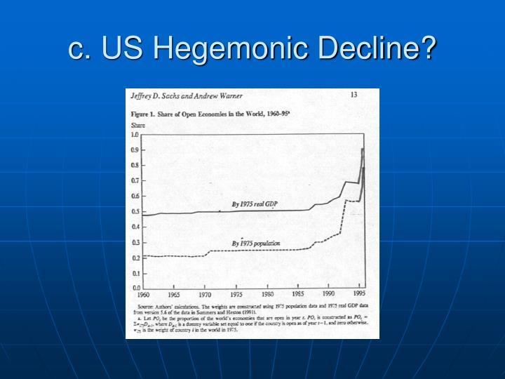 c. US Hegemonic Decline?