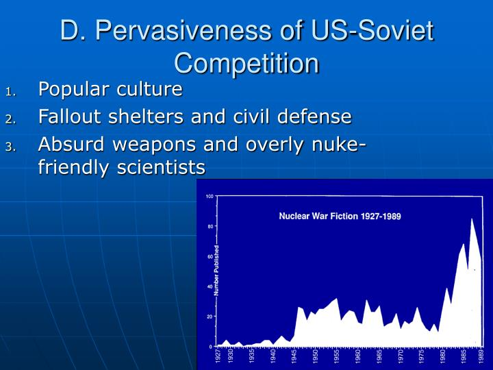 D. Pervasiveness of US-Soviet Competition