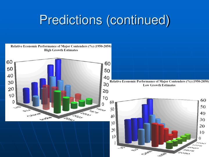 Predictions (continued)