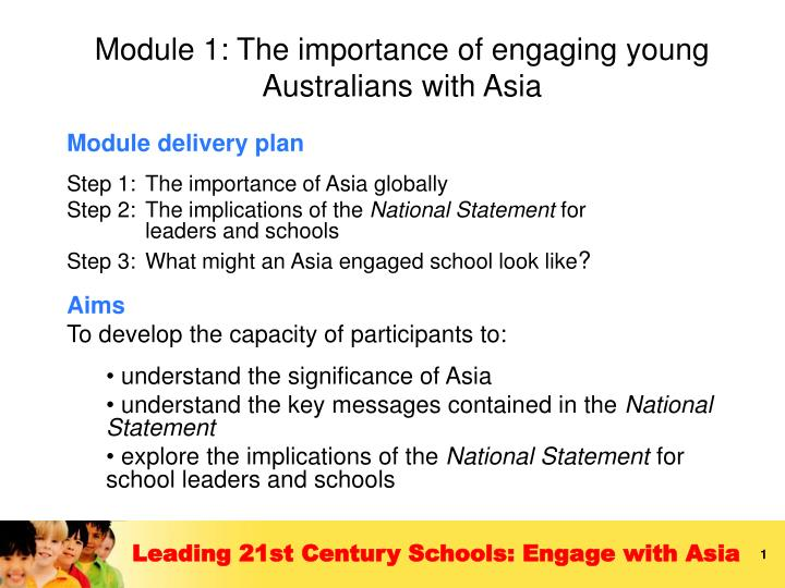 Module 1 the importance of engaging young australians with asia