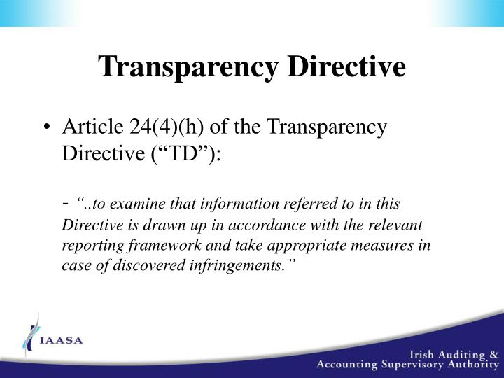 Transparency Directive