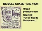 bicycle craze 1880 1900