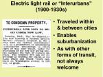 electric light rail or interurbans 1900 1930s