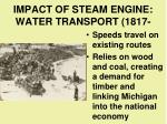 impact of steam engine water transport 1817