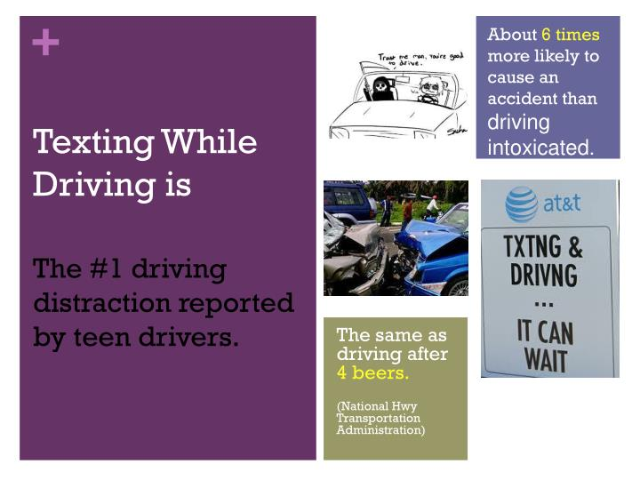 Texting while driving is