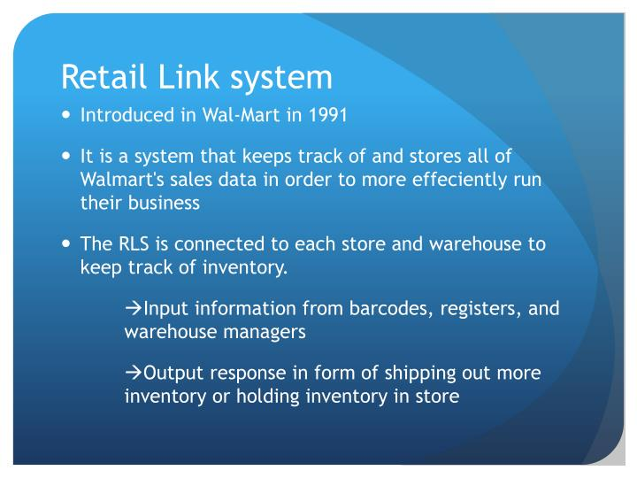 Retail Link system