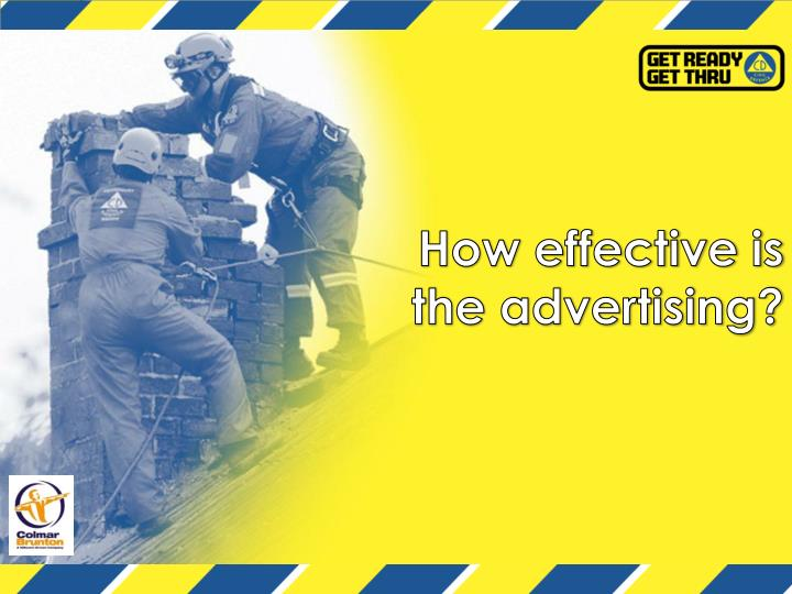 How effective is the advertising?
