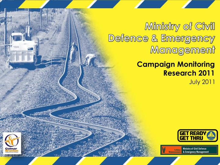 Ministry of civil defence emergency management campaign monitoring research 2011