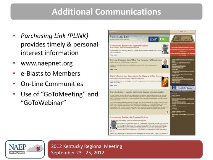 Additional Communications