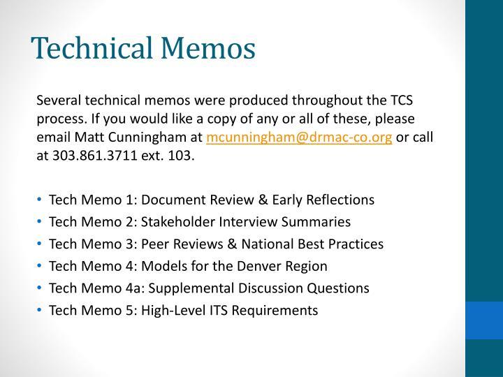 Technical Memos