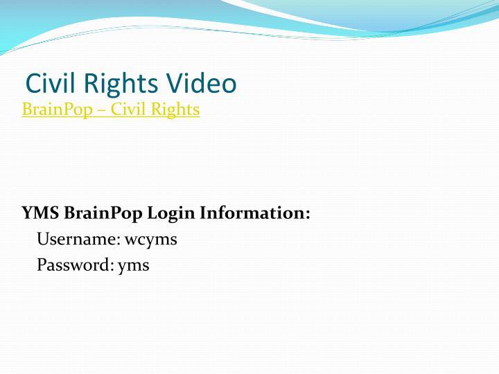 Civil Rights Video