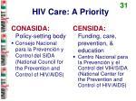 hiv care a priority