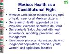 mexico health as a constitutional right