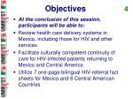 objectives 4
