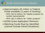 draft solicitation details