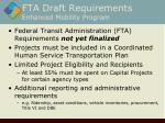 fta draft requirements enhanced mobility program