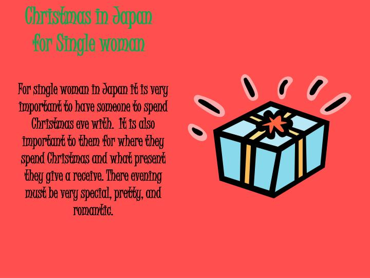 Christmas in japan for single woman