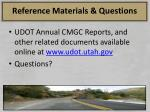reference materials questions