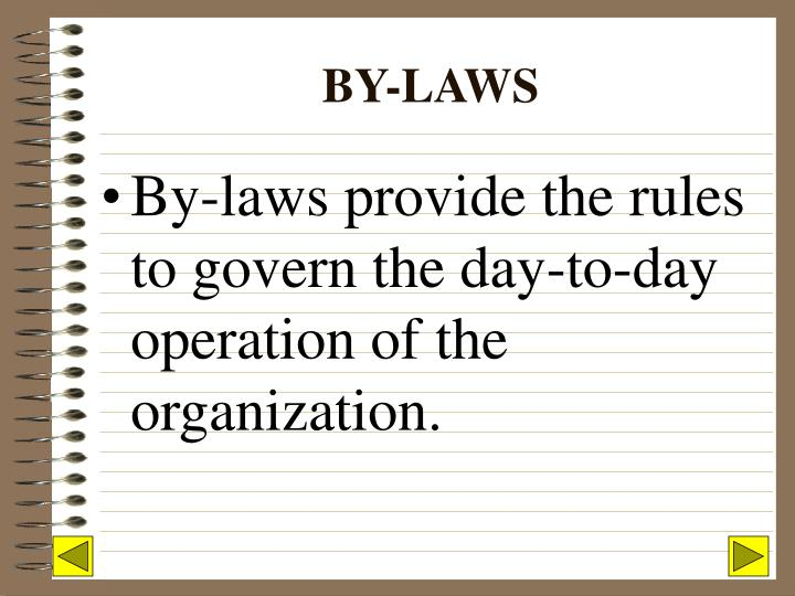 By laws