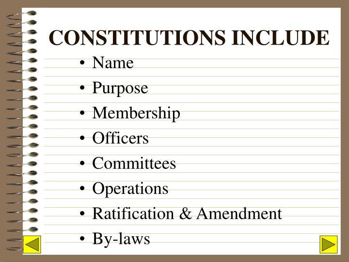 Constitutions include