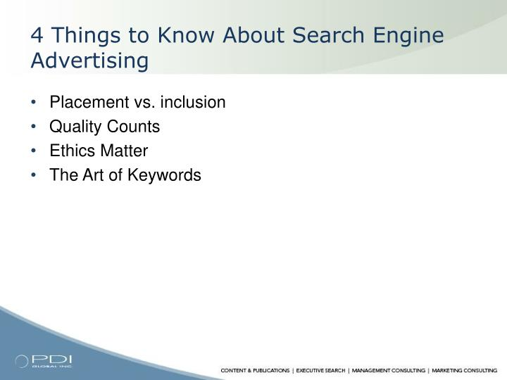 4 Things to Know About Search Engine Advertising