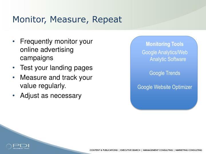 Monitor, Measure, Repeat