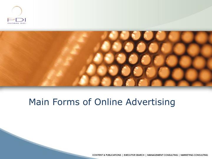 Main Forms of Online Advertising
