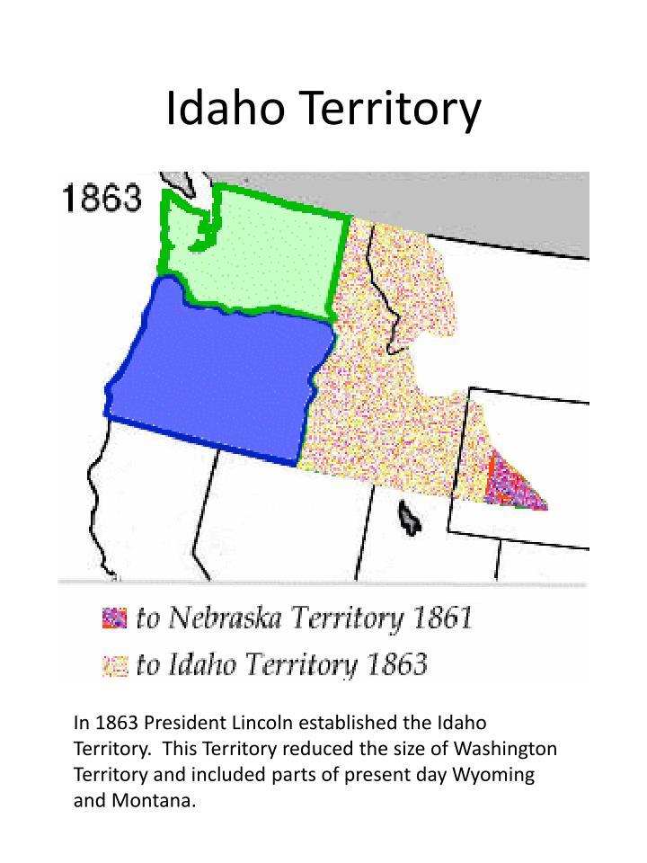 Idaho territory