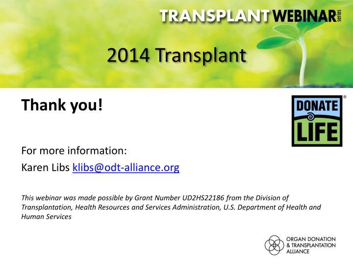 2014 Transplant