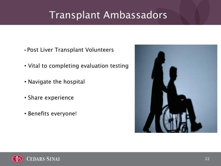 Transplant Ambassadors