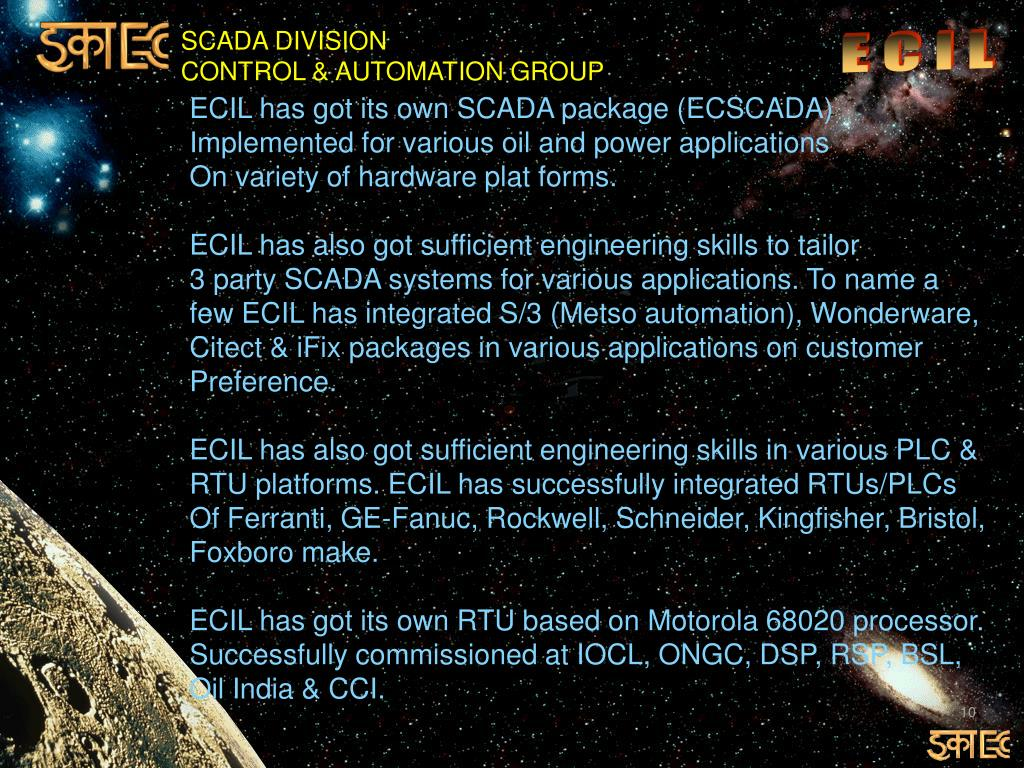 PPT - ELECTRONICS CORPORATION OF INDIA LIMITED CONTROL