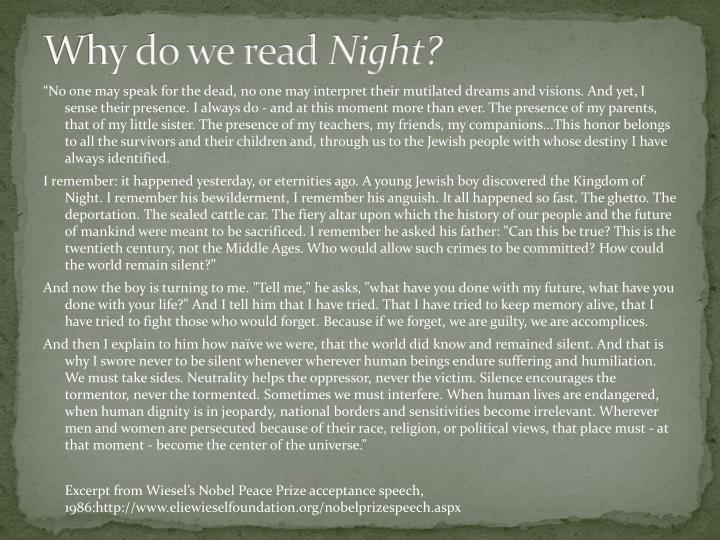 Why do we read night