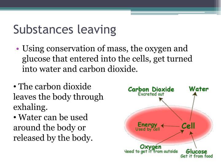 Substances leaving