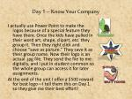 day 1 know your company3