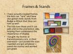 frames stands