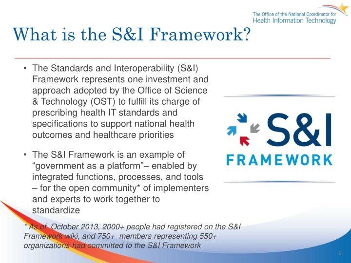 What is the S&I Framework?