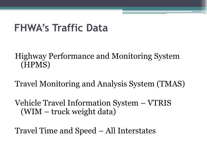 FHWA's Traffic Data