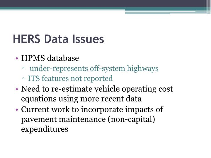 HERS Data Issues