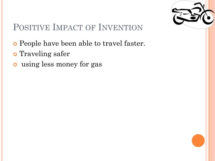 Positive Impact of Invention