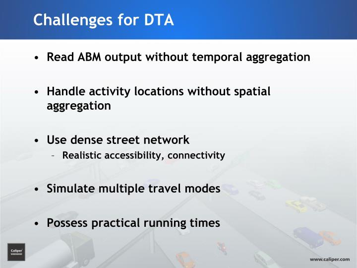 Challenges for DTA